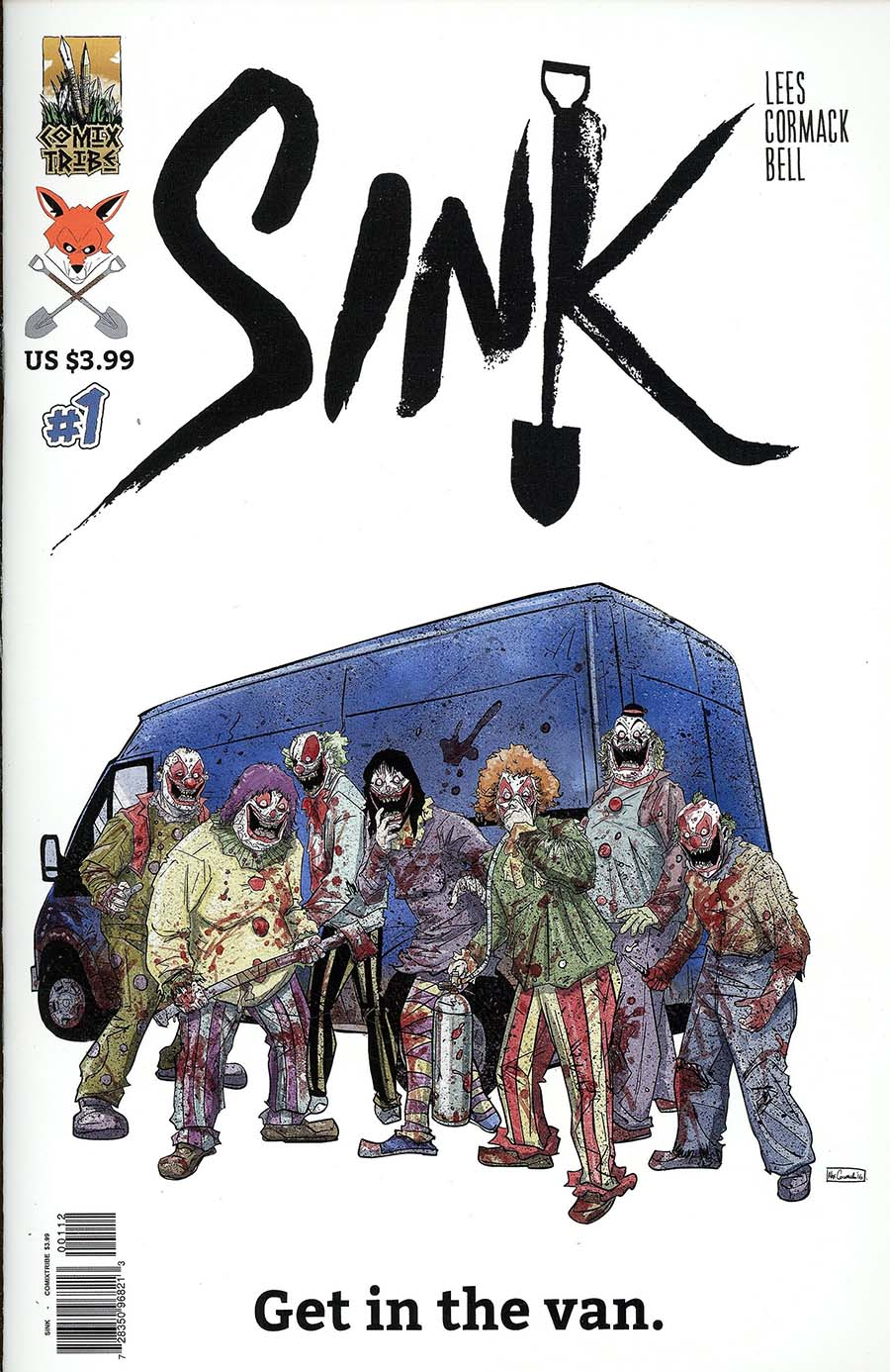 Sink #1 Cover C 2nd Ptg Variant Alex Cormack Clown Cover