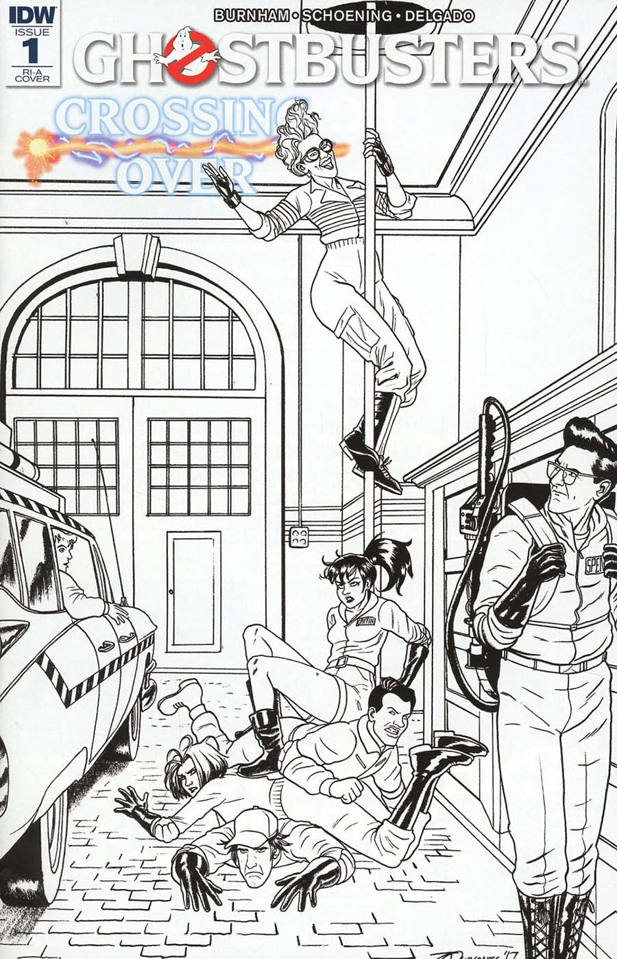 Ghostbusters Crossing Over #1 Cover C Incentive Joe Quinones Variant Cover