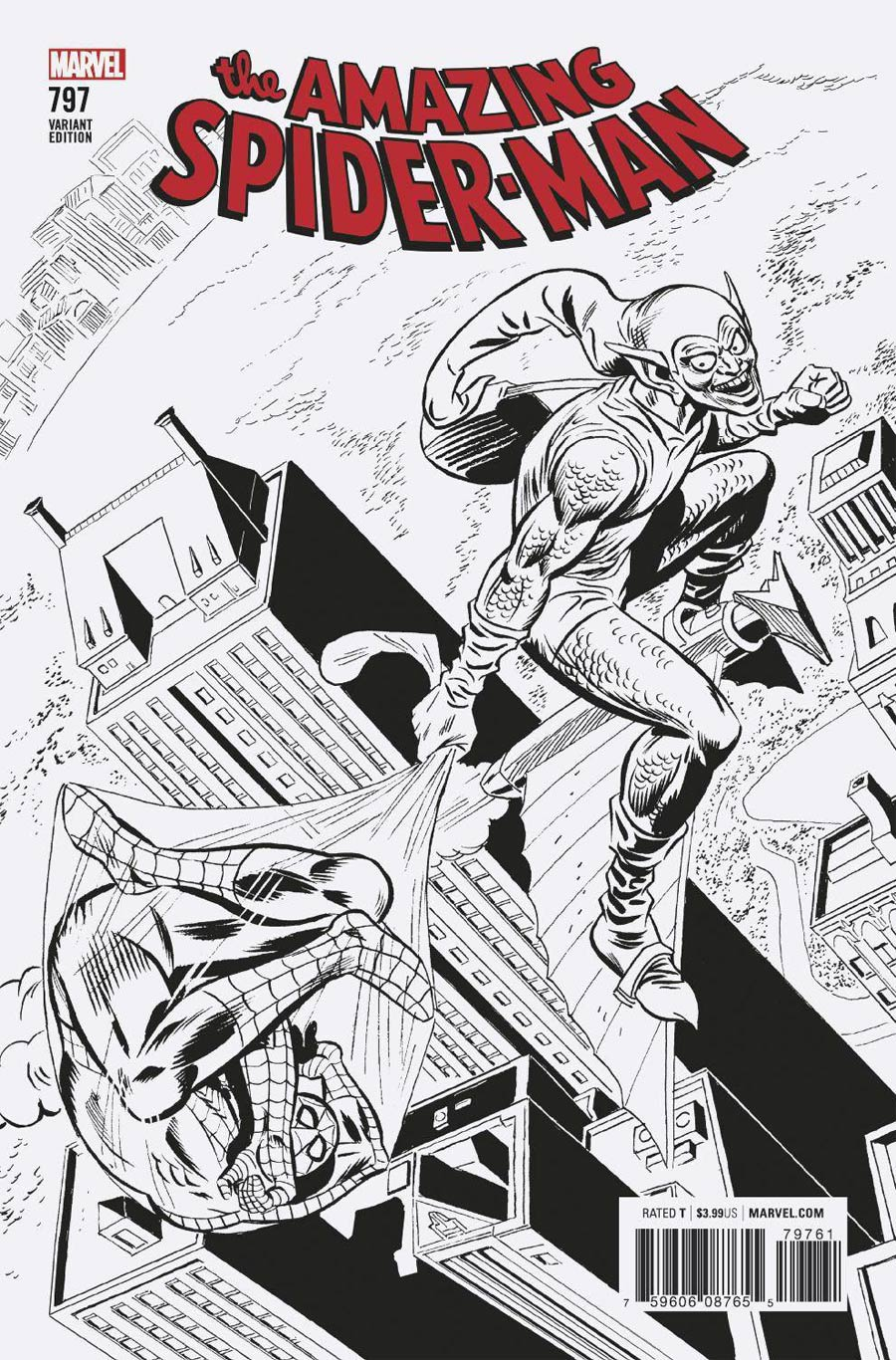 Amazing Spider-Man Vol 4 #797 Cover G Incentive Ross Andru Remastered Sketch Variant Cover (Marvel Legacy Tie-In)