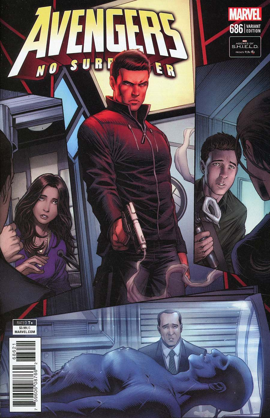 Avengers Vol 6 #686 Cover B Incentive Dale Keown Marvels Agents Of S.H.I.E.L.D. Road To 100 Variant Cover (No Surrender Part 12)(Marvel Legacy Tie-In)