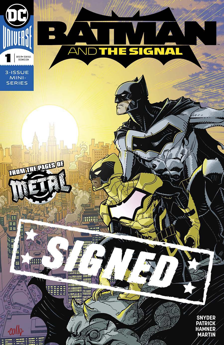 Batman And The Signal #1 Cover E Regular Cully Hamner Cover Signed By Cully Hamner (Dark Nights Metal Tie-In)