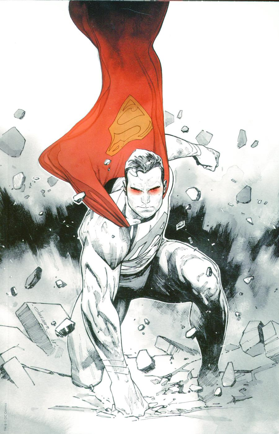 Action Comics Vol 2 #1000  Midtown Exclusive Olivier Coipel Virgin Black & White With Spot Color Variant Cover Signed By Peter J Tomasi