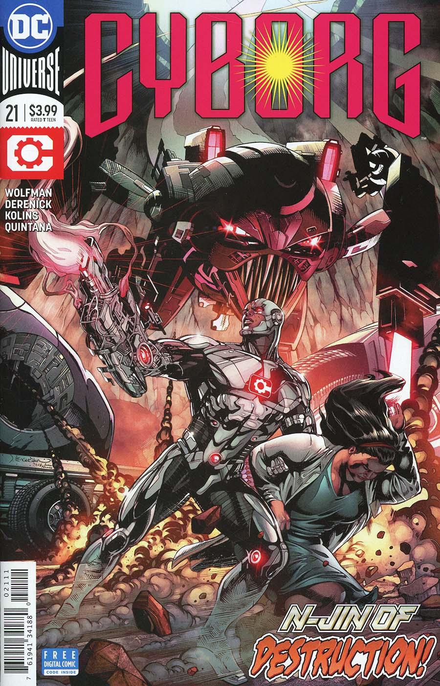 Cyborg Vol 2 #21 Cover A Regular Sam Lotfi Cover