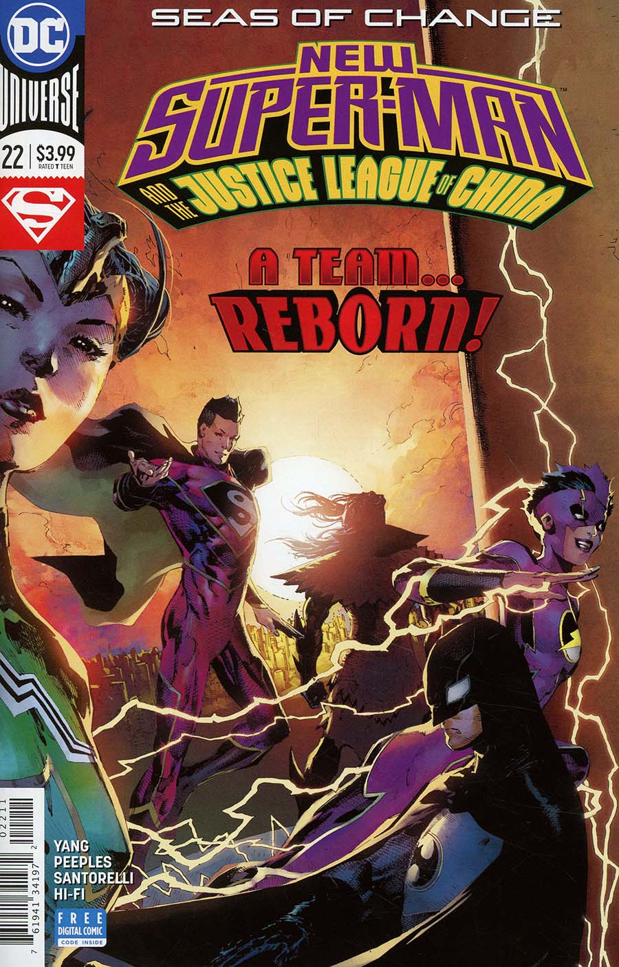 New Super-Man And The Justice League Of China #22 Cover A Regular Philip Tan Cover