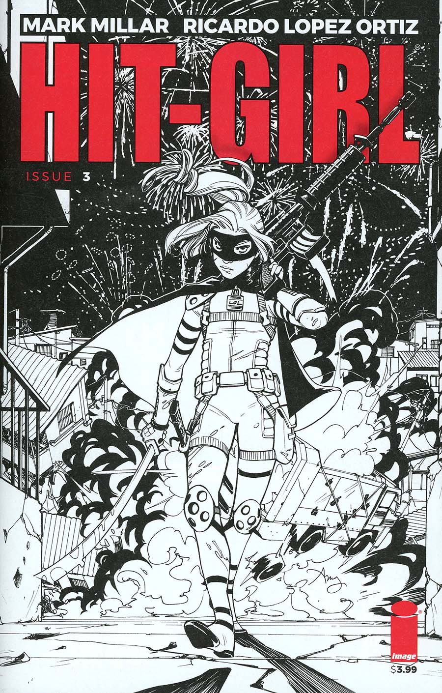 Hit-Girl Vol 2 #3 Cover B Variant Amy Reeder Sketch Cover