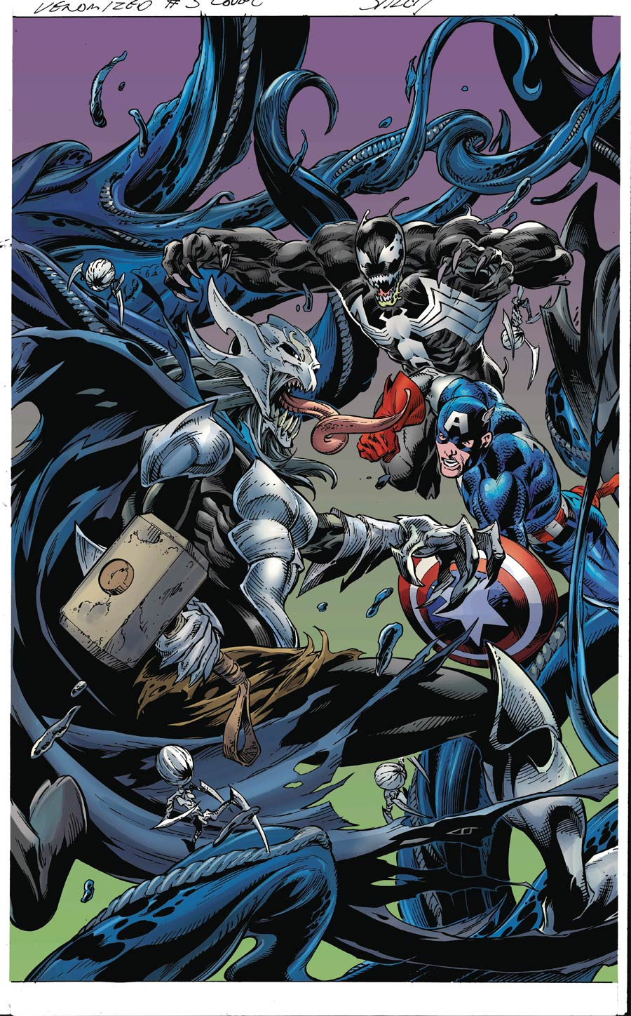 Venomized #3 Cover B Variant Mark Bagley Connecting Cover (3 Of 5)