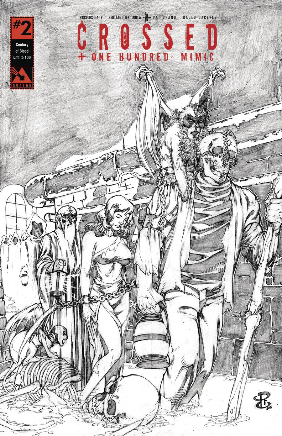 Crossed Plus 100 Mimic #2 Cover J Century Of Blood Cover