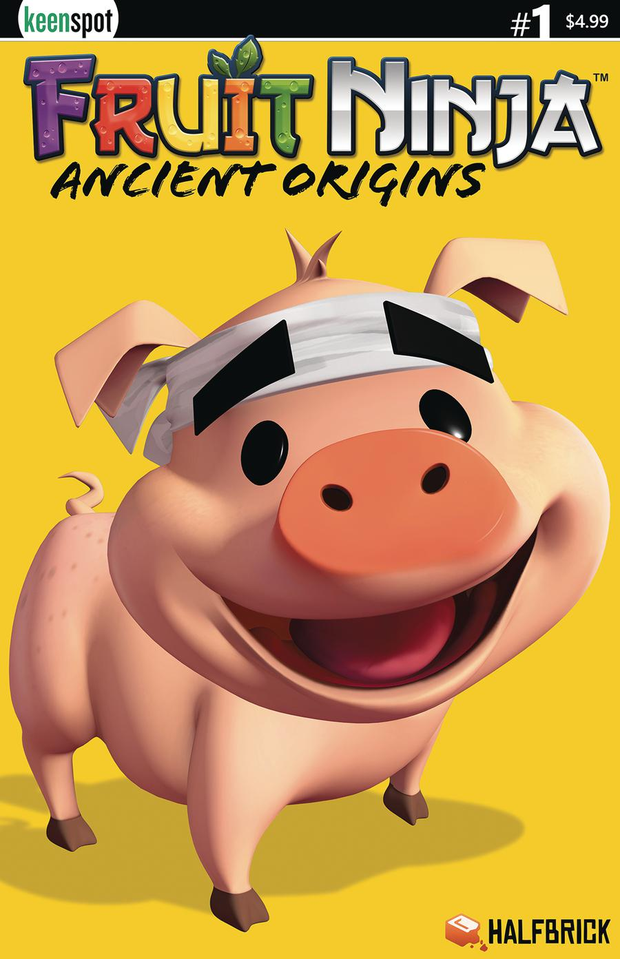 Fruit Ninja Ancient Origins #1 Cover C Variant Truffles The Pig Cover