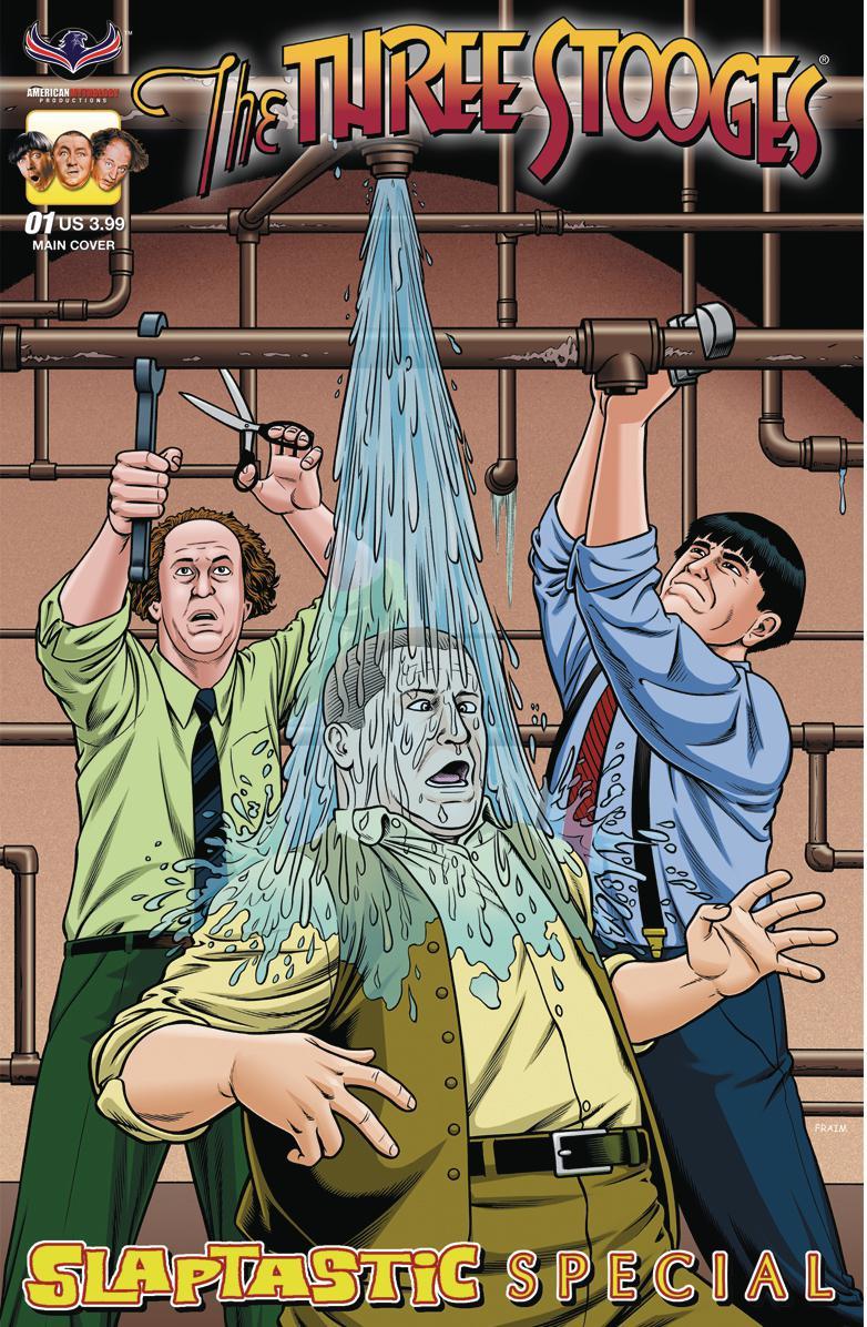 Three Stooges Slaptastic Special #1 Cover A Regular Brendon Fraim & Brian Fraim Cover