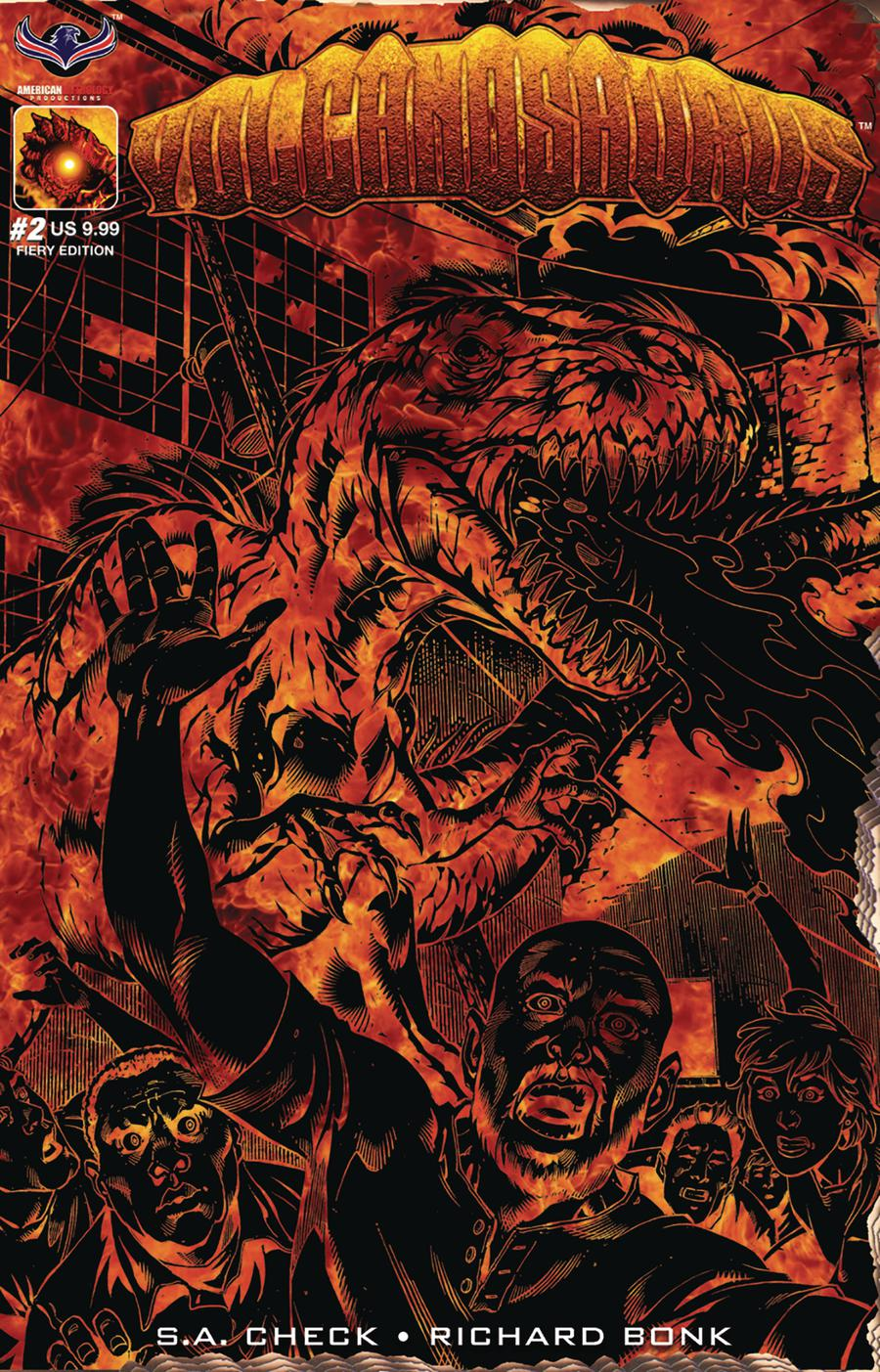 Volcanosaurus #2 Cover C Variant Fiery Limited Edition Cover