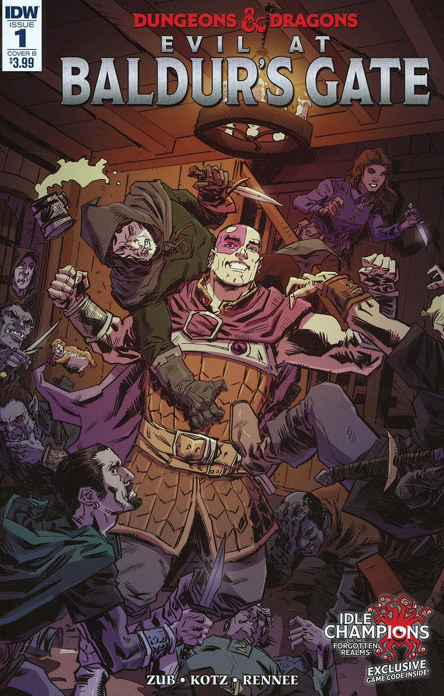 Dungeons & Dragons Evil At Baldurs Gate #1 Cover B Variant Dean Kotz Cover