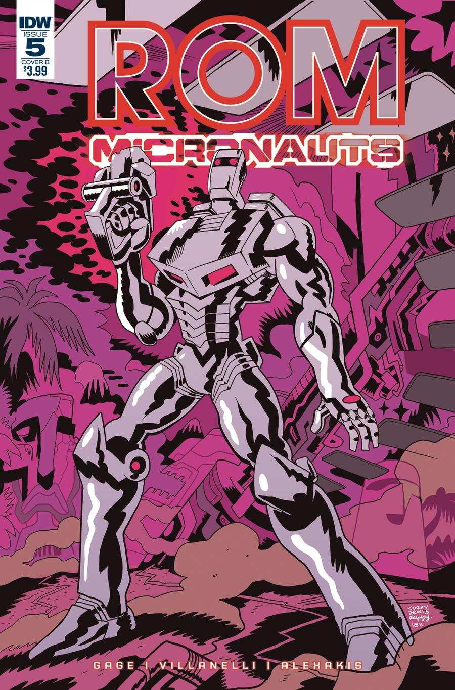 ROM And The Micronauts #5 Cover B Variant Corey Lewis Cover