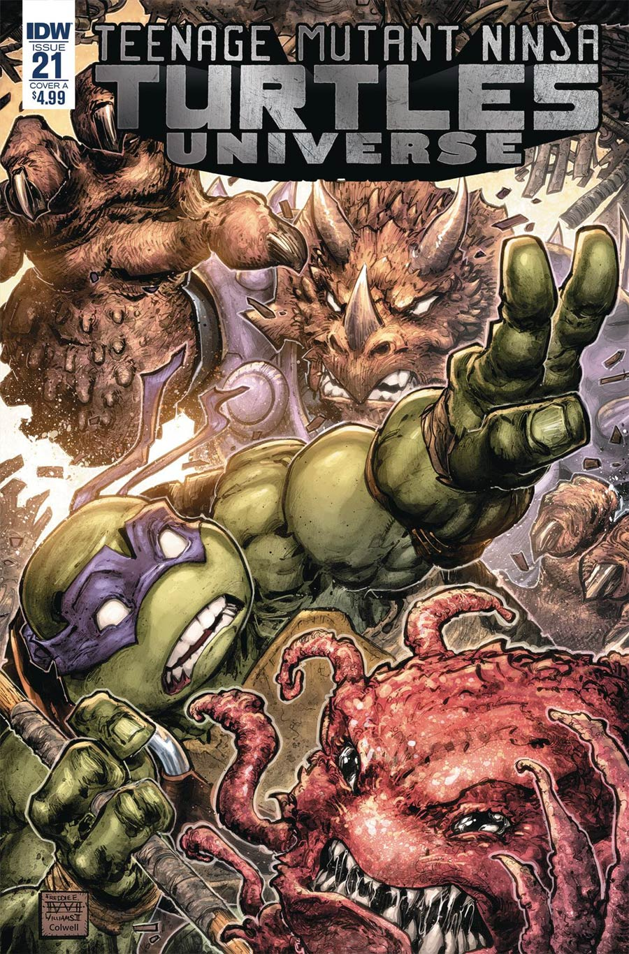 Teenage Mutant Ninja Turtles Universe #21 Cover A Regular Freddie E Williams II Cover