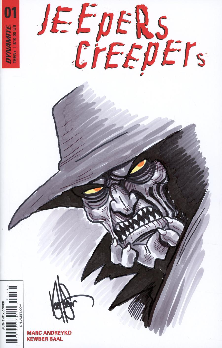 Jeepers Creepers #1 Cover H Variant Ken Haeser Hand-Drawn Original Art Sketch Cover