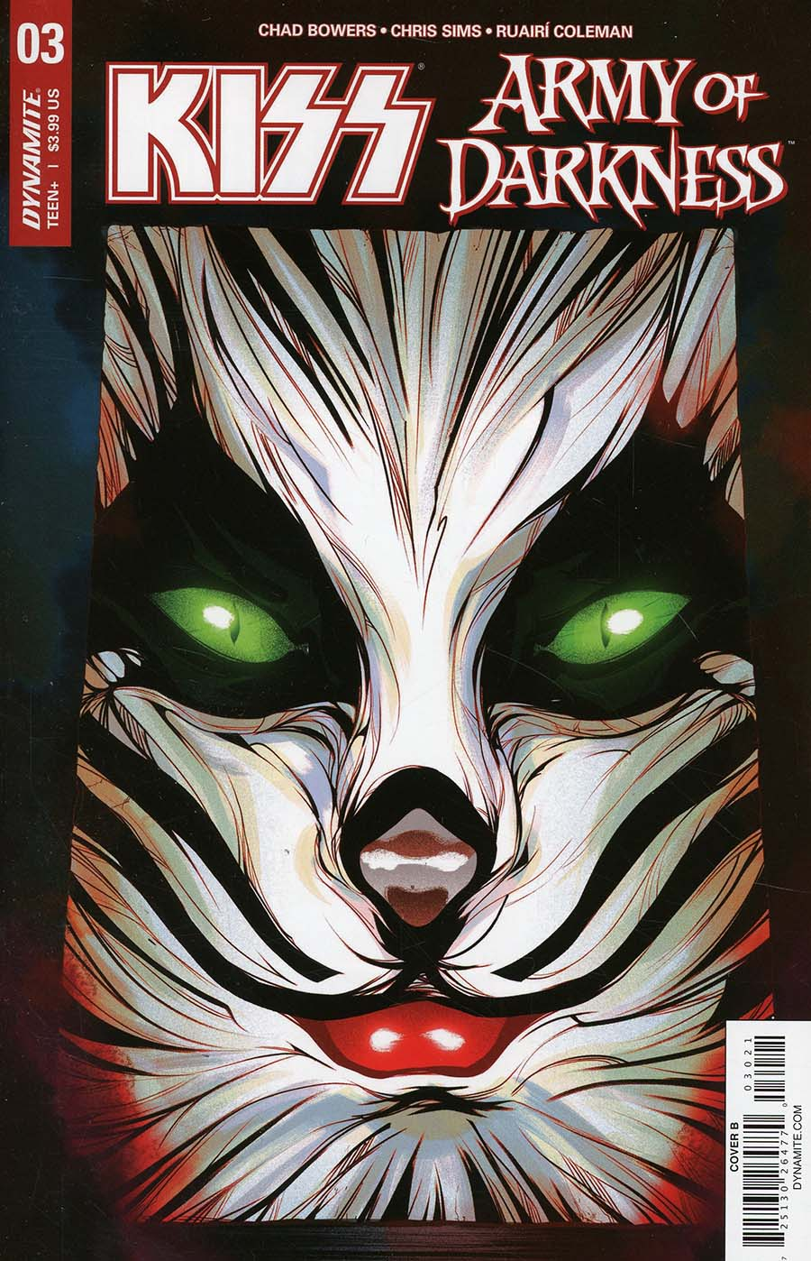 KISS Army Of Darkness #3 Cover B Variant Goni Montes Catman Necronomicon Cover