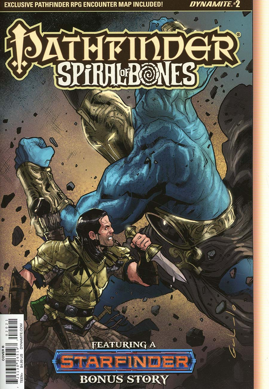 Pathfinder Spiral Of Bones #2 Cover B Variant Diego Galindo Cover