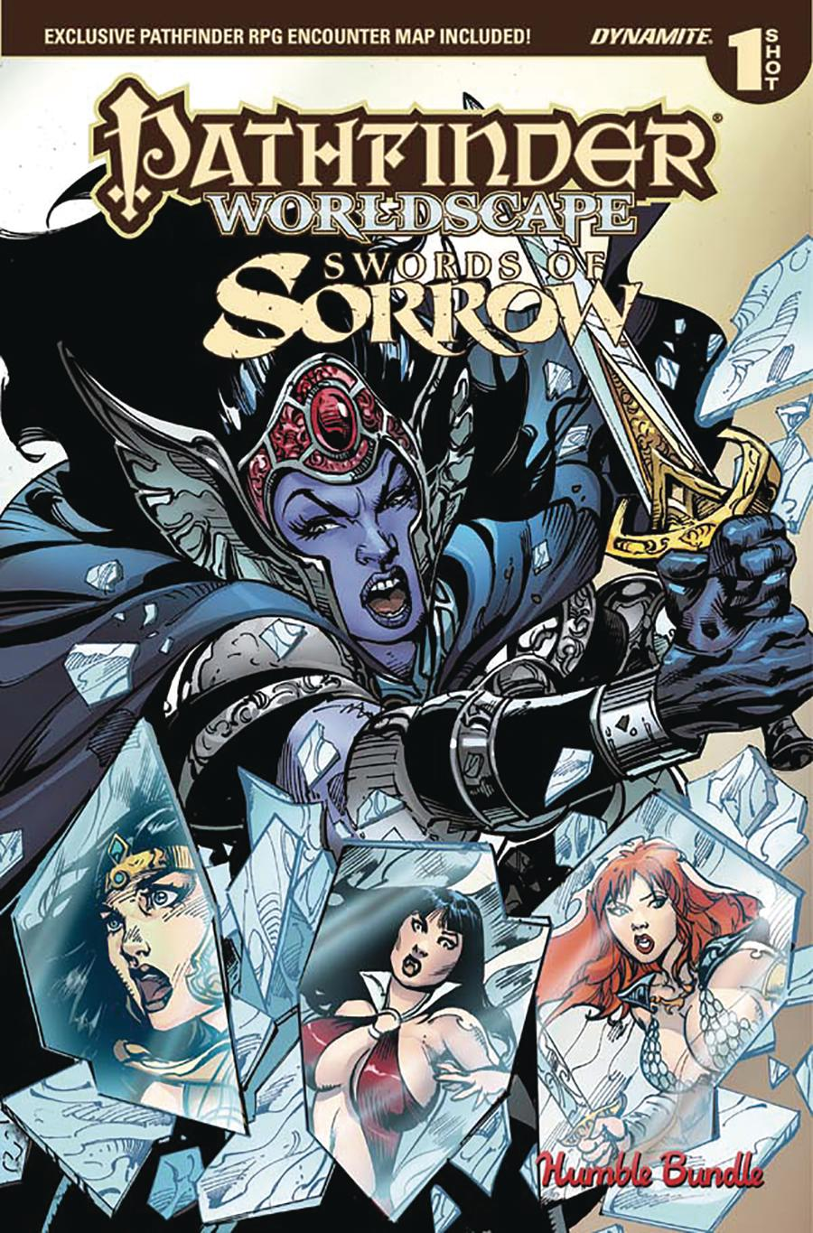 Pathfinder Worldscape Swords Of Sorrow One Shot Cover A Humble Bundle Exclusive