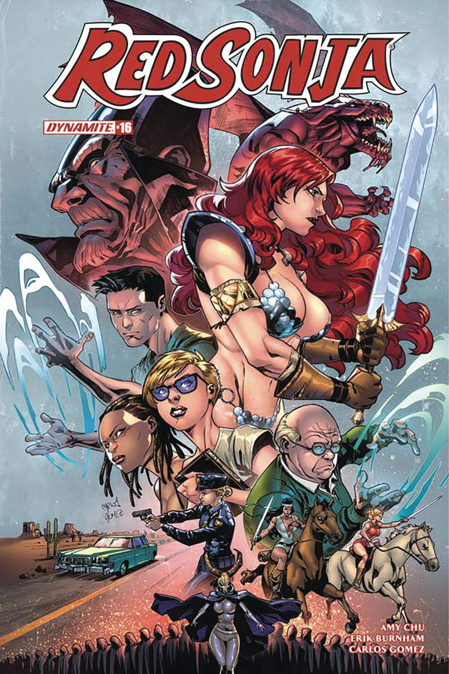 Red Sonja Vol 7 #16 Cover E Variant Carlos Gomez Subscription Cover