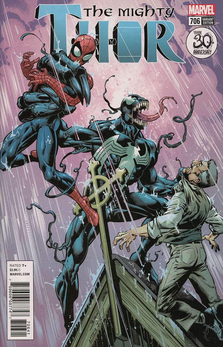Mighty Thor Vol 2 #706 Cover D Variant Mark Bagley Venom 30th Anniversary Cover
