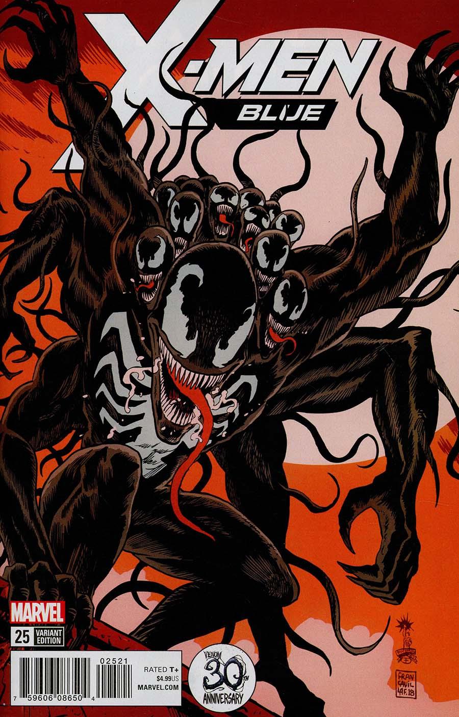 X-Men Blue #25 Cover B Variant Francesco Francavilla Venom 30th Anniversary Cover