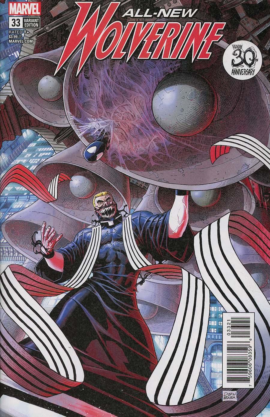 All-New Wolverine #33 Cover B Variant Dustin Weaver Venom 30th Anniversary Cover