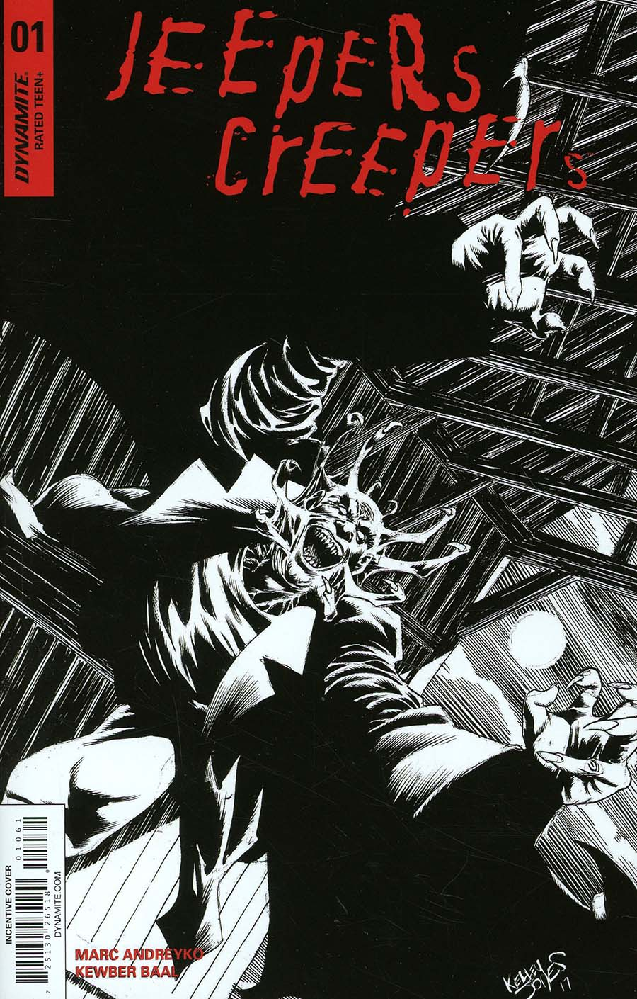 Jeepers Creepers #1 Cover G Incentive Kelley Jones Black & White Cover
