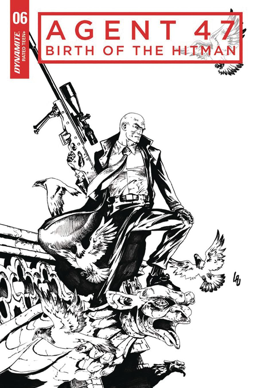 Agent 47 Birth Of The Hitman #6 Cover C Incentive Jonathan Lau Black & White Cover
