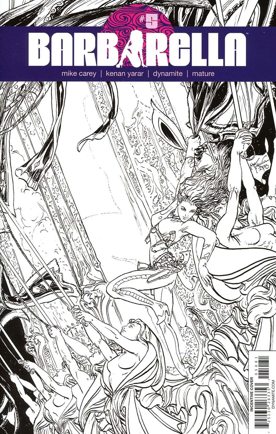 Barbarella #5 Cover H Incentive Michael William Kaluta Black & White Cover