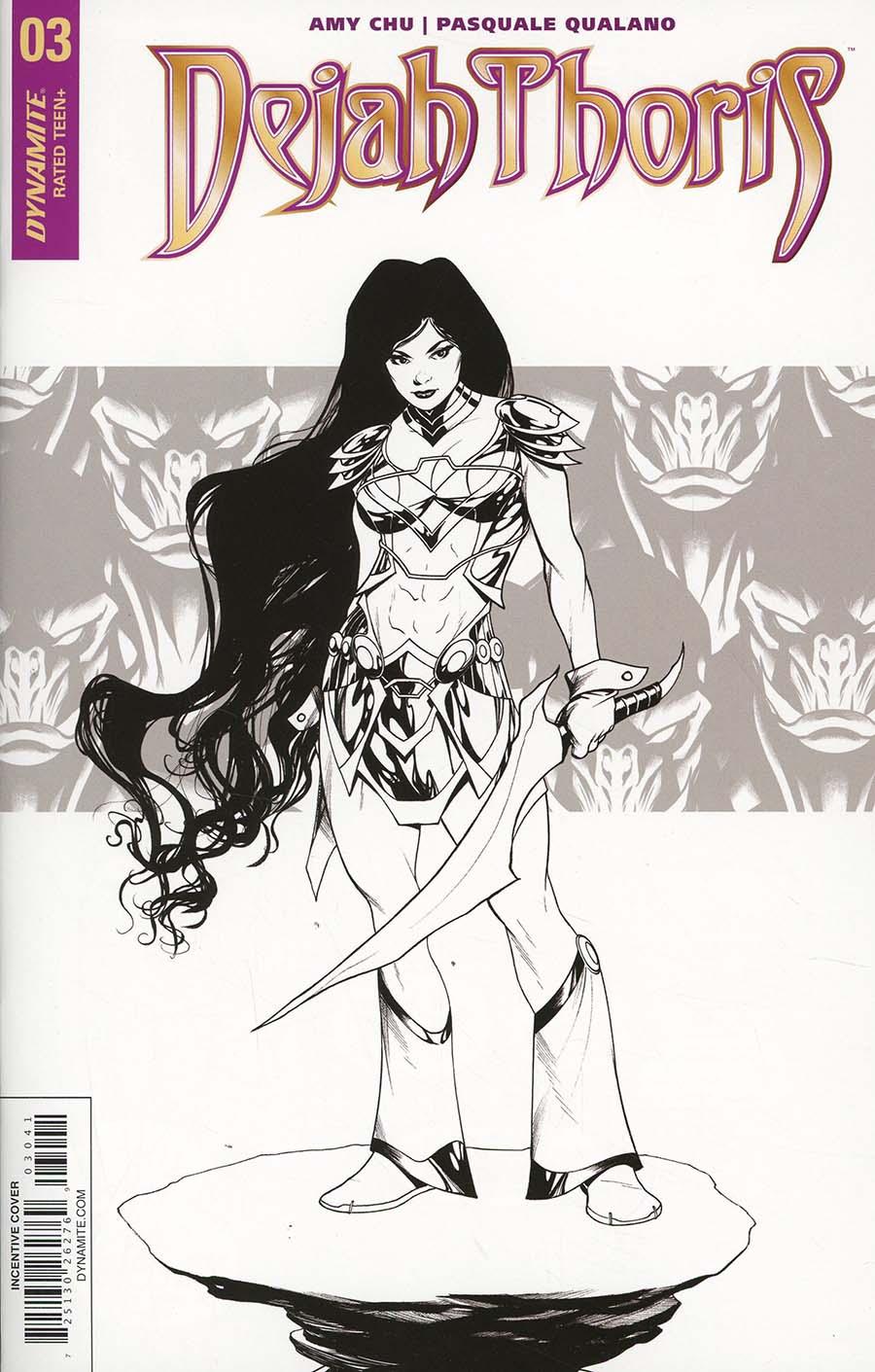 Dejah Thoris Vol 2 #3 Cover D Incentive Mike McKone Black & White Cover