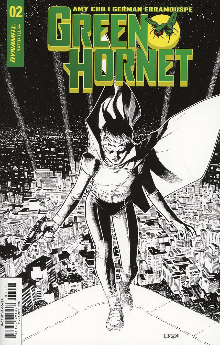 Green Hornet Vol 4 #2 Cover D Incentive Sean Chen Black & White Cover