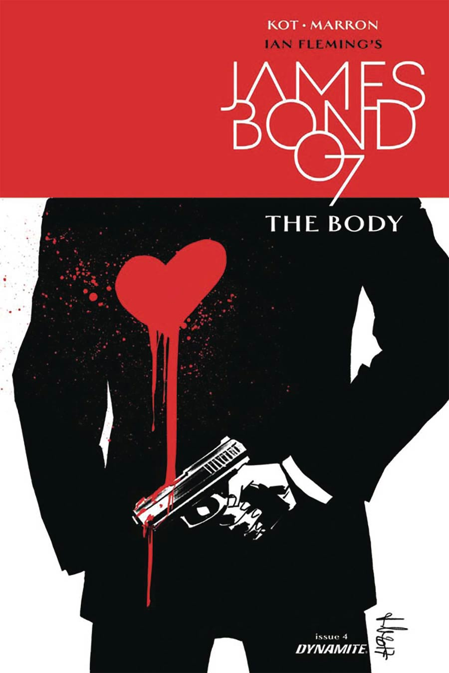 James Bond The Body #4 Cover B Incentive Luca Casalanguida Black & White Cover