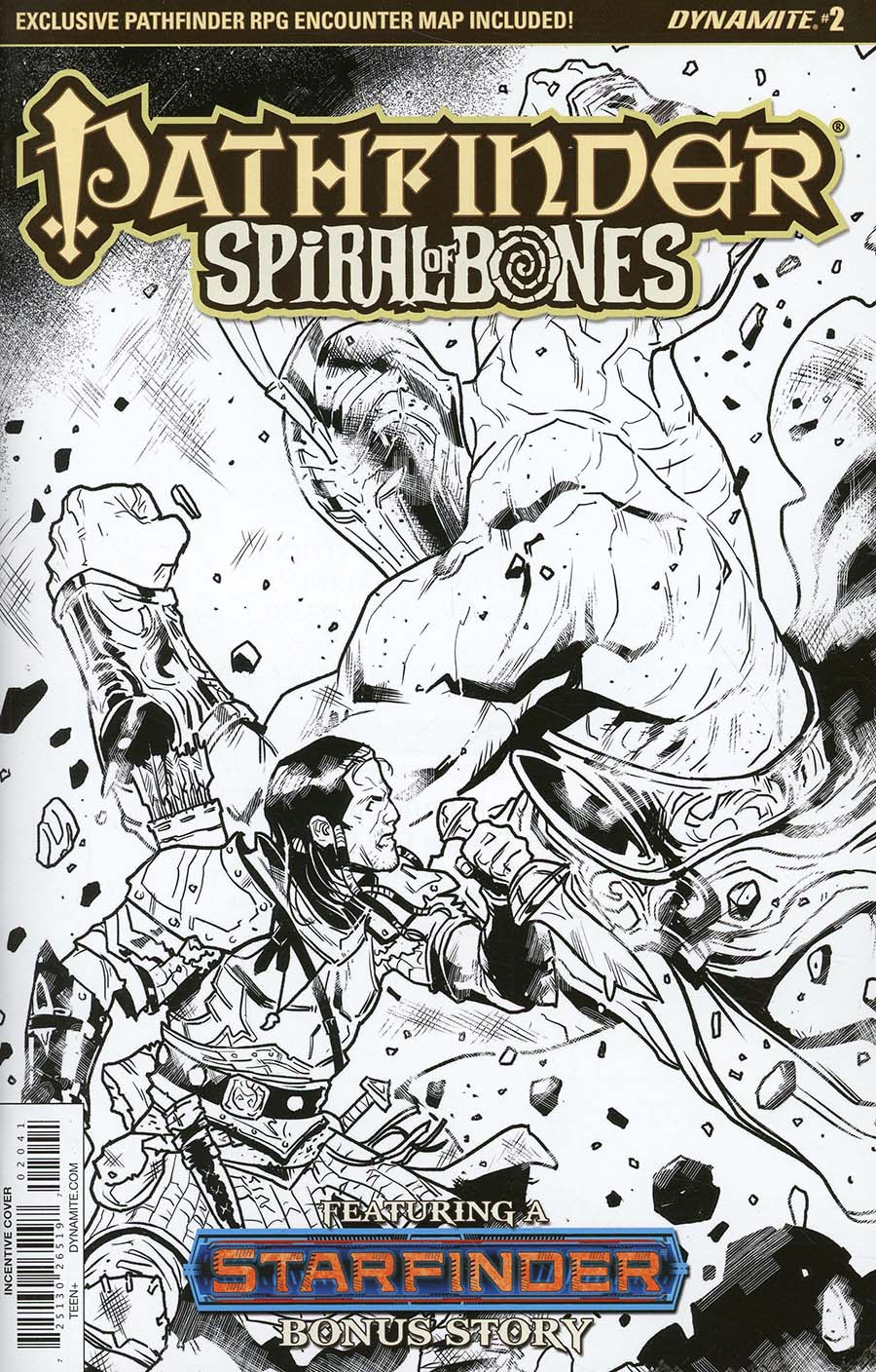 Pathfinder Spiral Of Bones #2 Cover D Incentive Diego Galindo Black & White Cover
