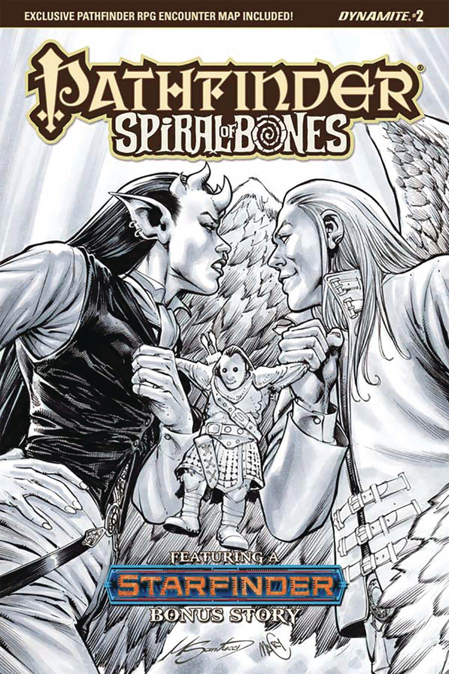 Pathfinder Spiral Of Bones #2 Cover E Incentive Marco Santucci Black & White Cover