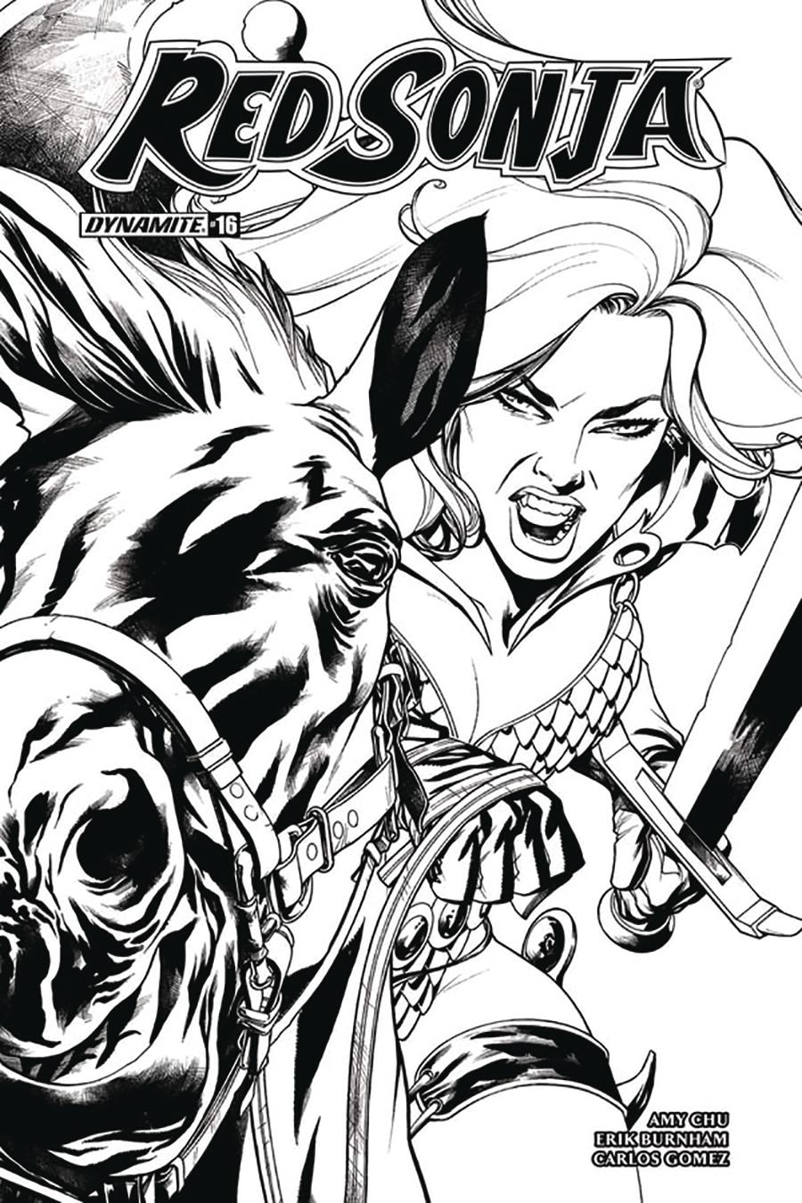 Red Sonja Vol 7 #16 Cover F Incentive Mike McKone Black & White Cover