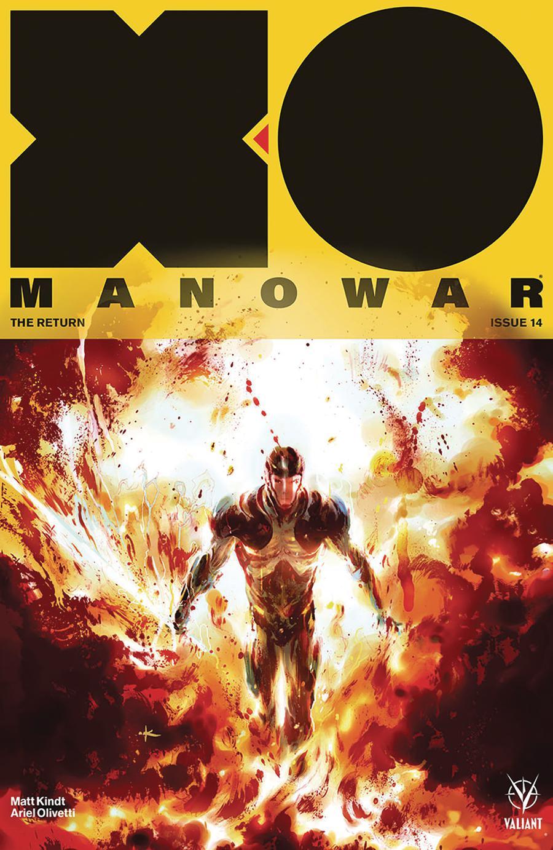 X-O Manowar Vol 4 #14 Cover D Incentive Keron Grant Variant Cover
