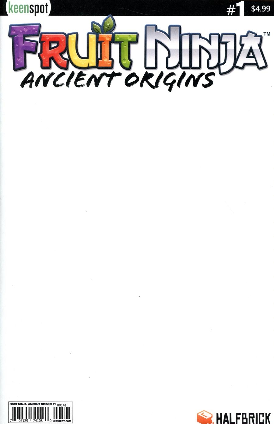 Fruit Ninja Ancient Origins #1 Cover D Variant Blank Cover