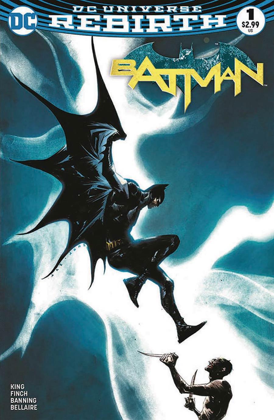 Batman Rebirth #1 DF Cover Plus 1 Package