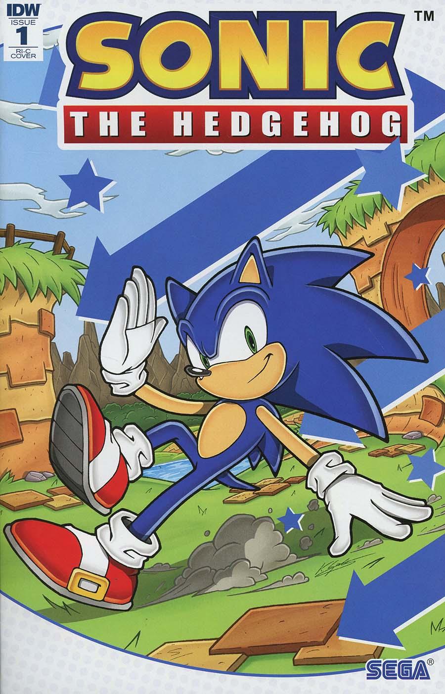 Sonic The Hedgehog Vol 3 #1 Cover E Incentive Kieran Gates Variant Cover