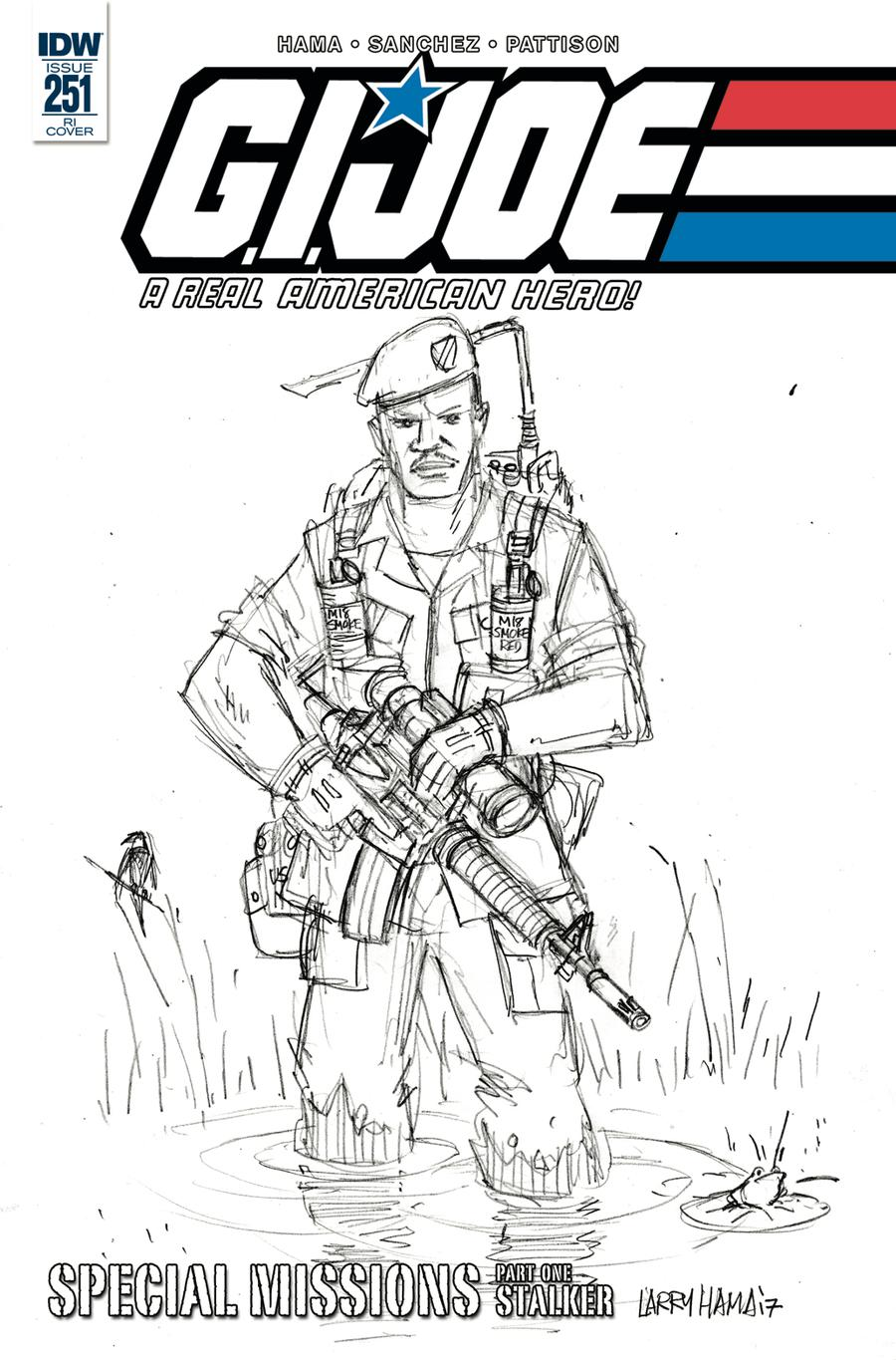 GI Joe A Real American Hero #251 Cover C Incentive Larry Hama Variant Cover
