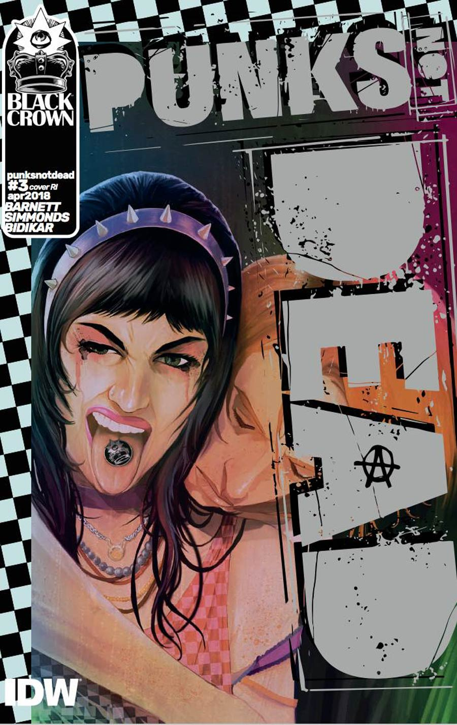 Punks Not Dead #3 Cover C Incentive Martin Simmonds Variant Cover