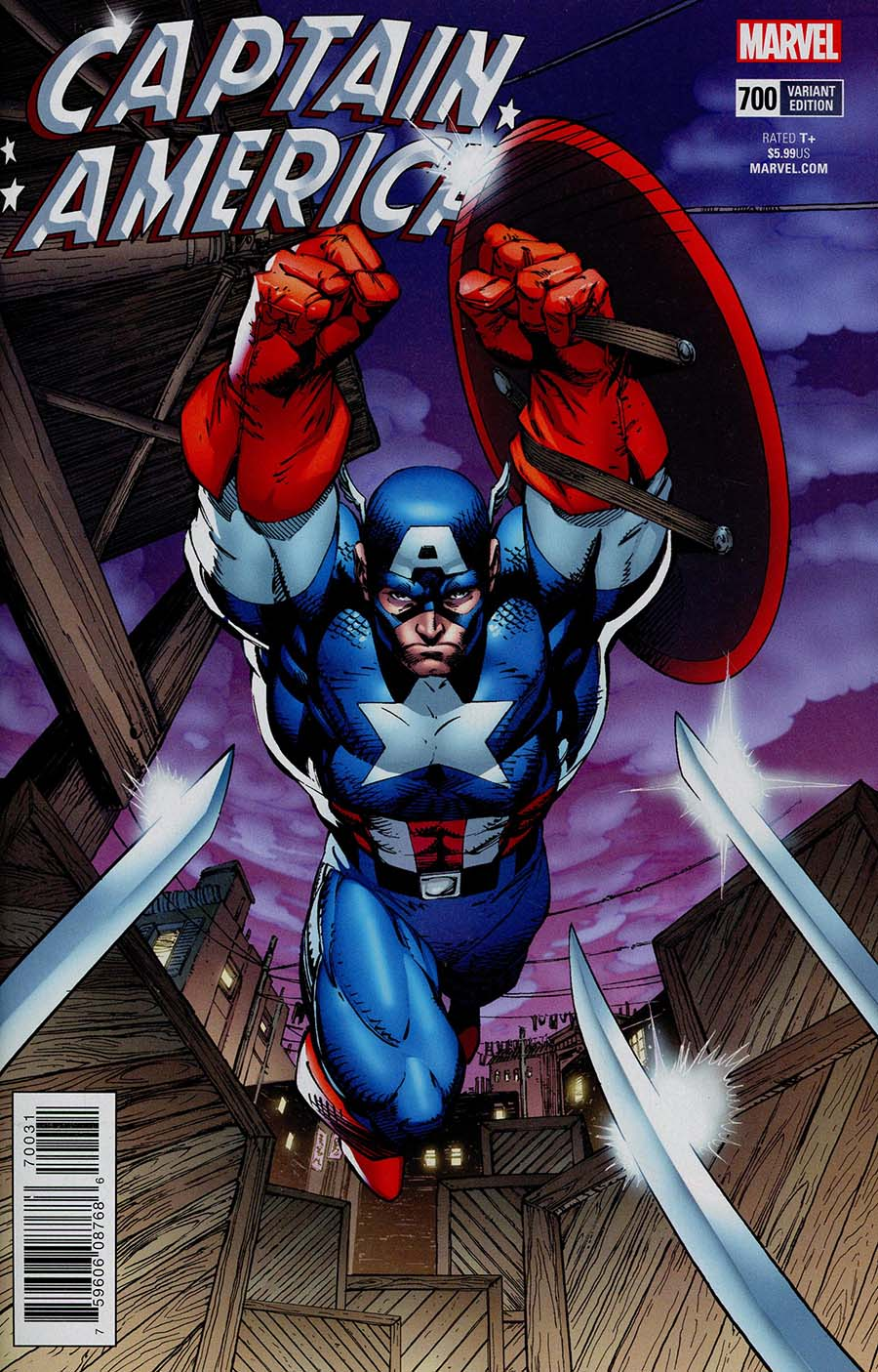 Captain America Vol 8 #700 Cover H Incentive Jim Lee Remastered Color Variant Cover