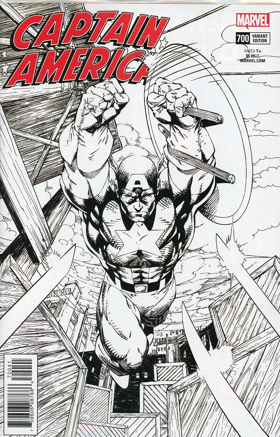 Captain America Vol 8 #700 Cover I Incentive Jim Lee Remastered Sketch Variant Cover