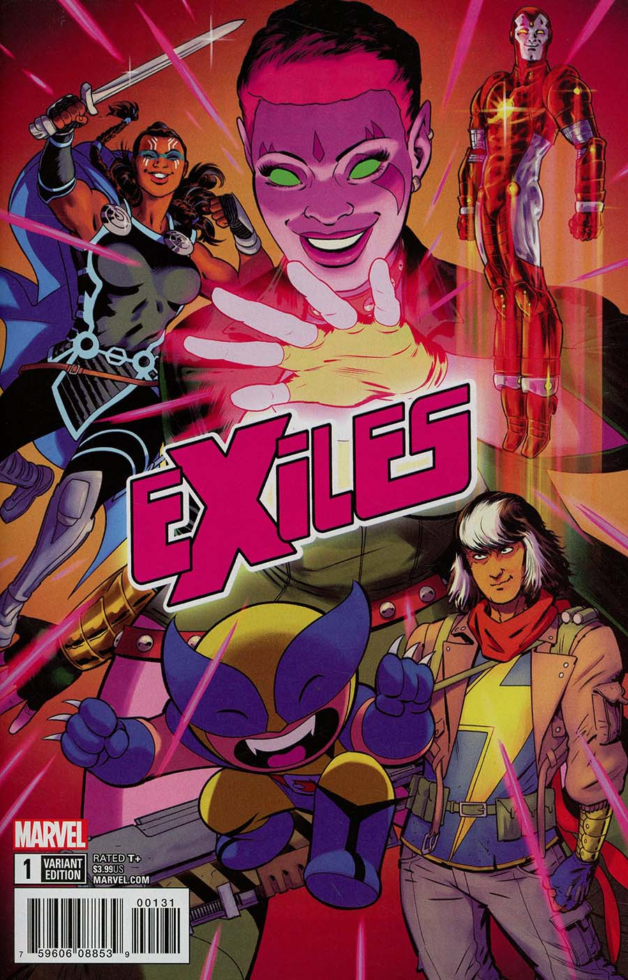 Exiles Vol 5 #1 Cover C Incentive Javier Rodriguez Variant Cover