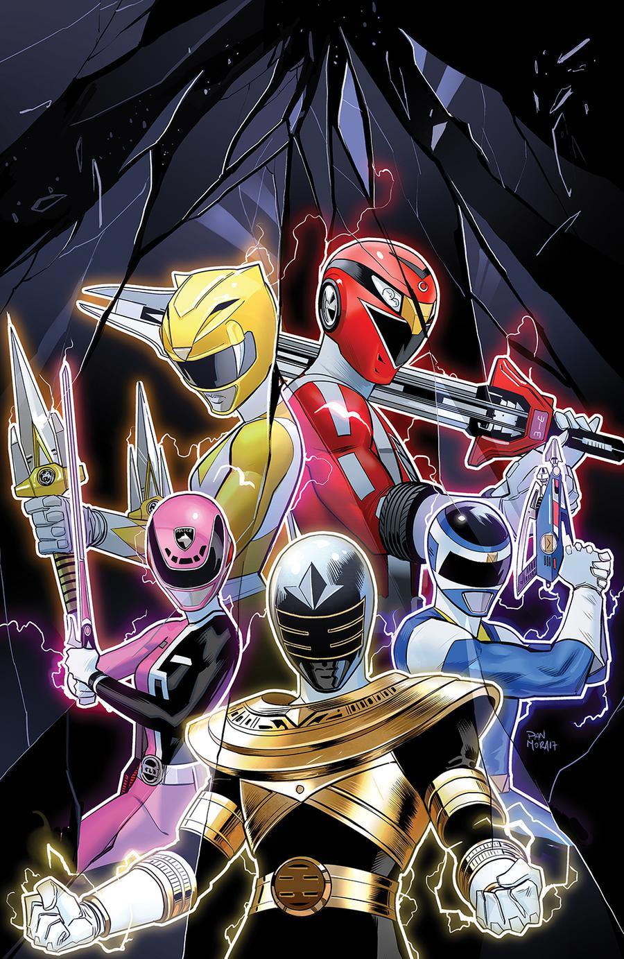 Mighty Morphin Power Rangers 2018 Annual #1 Cover B Incentive Dan Mora Virgin Variant Cover
