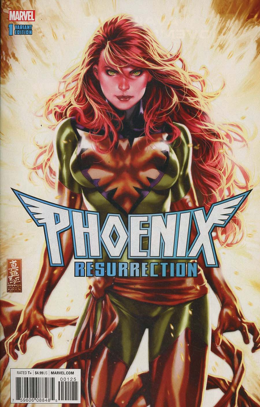 Phoenix Resurrection Return Of (Adult) Jean Grey #1 Cover R Incentive Comic Sketch Art Exclusive Mark Brooks Variant Cover