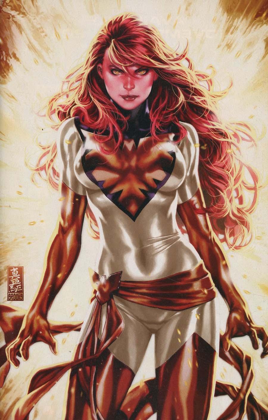 Phoenix Resurrection Return Of (Adult) Jean Grey #1 Cover U Incentive Comic Sketch Art Exclusive Mark Brooks White Costume Virgin Variant Cover