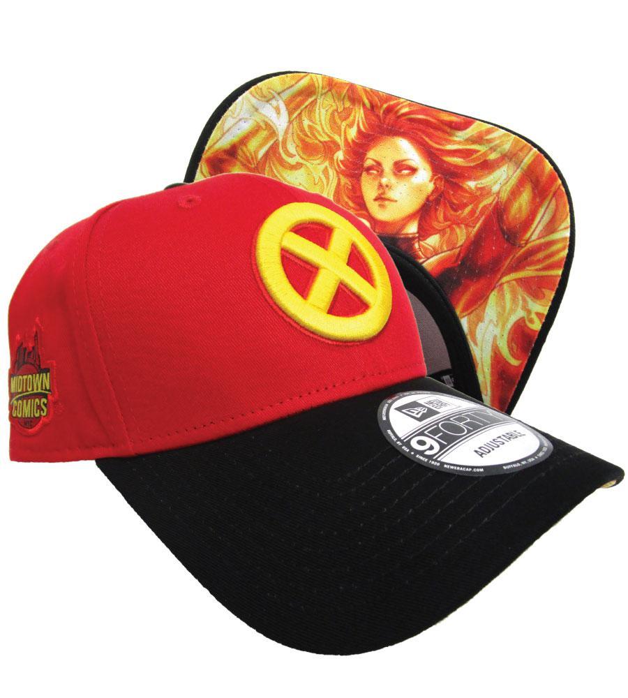 Midtown Comics Exclusive X-Men Logo Dark Phoenix Red 940 Velcro Strap Cap