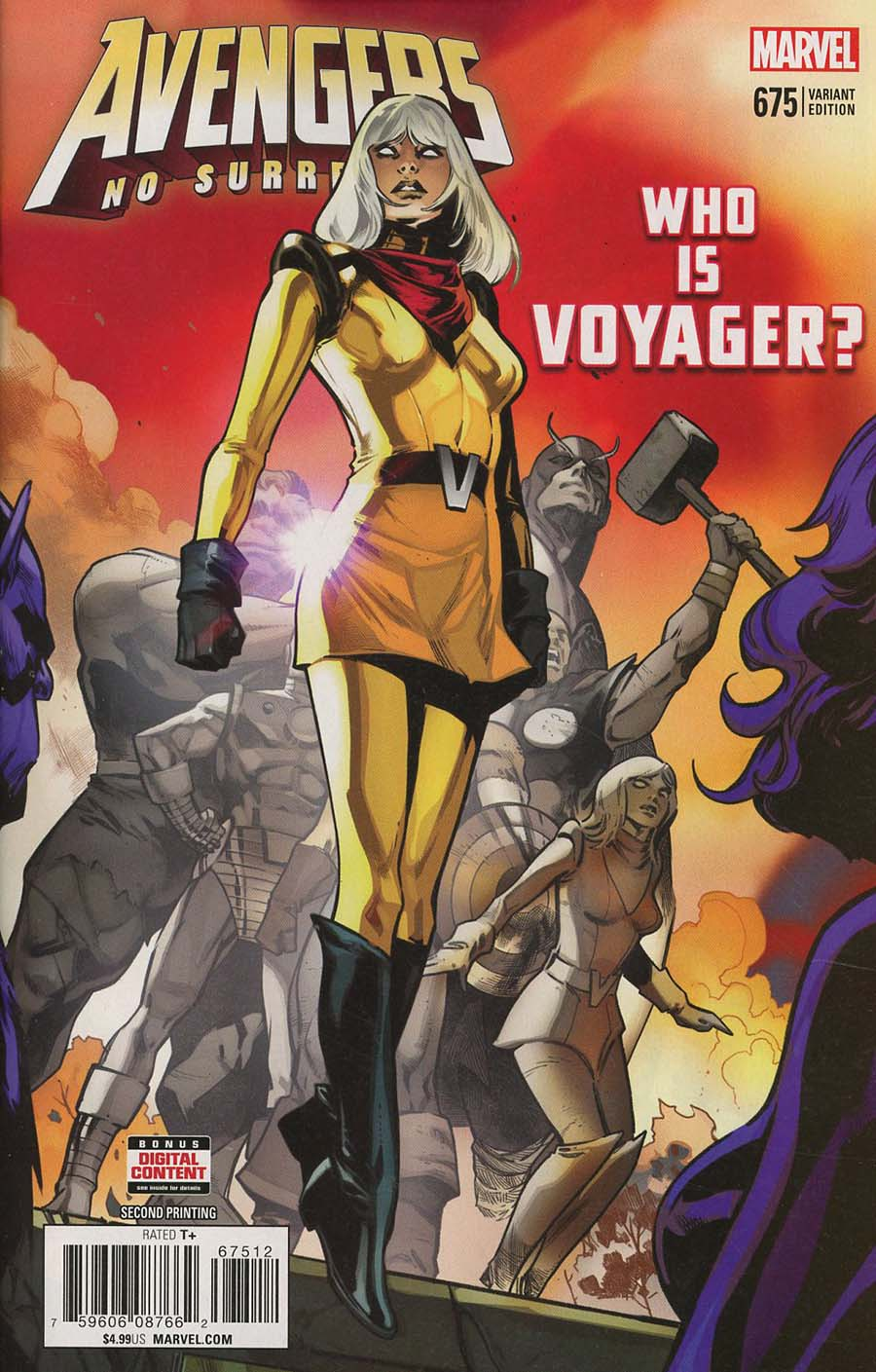 Avengers Vol 6 #675 Cover N 2nd Ptg Variant Pepe Larraz Cover (No Surrender Part 1)(Marvel Legacy Tie-In)