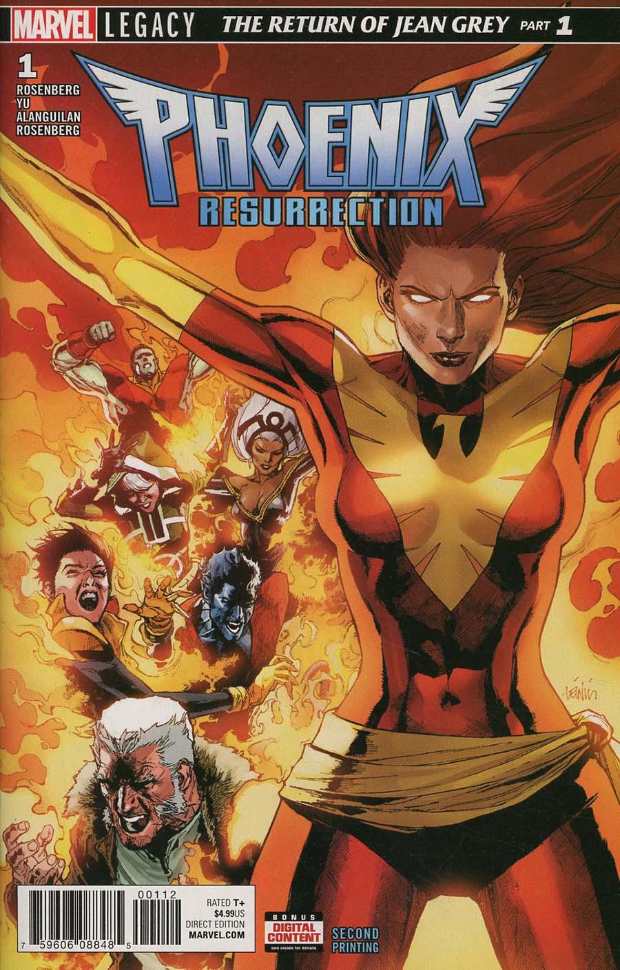 Phoenix Resurrection Return Of (Adult) Jean Grey #1 Cover V 2nd Ptg Variant Leinil Francis Yu Cover