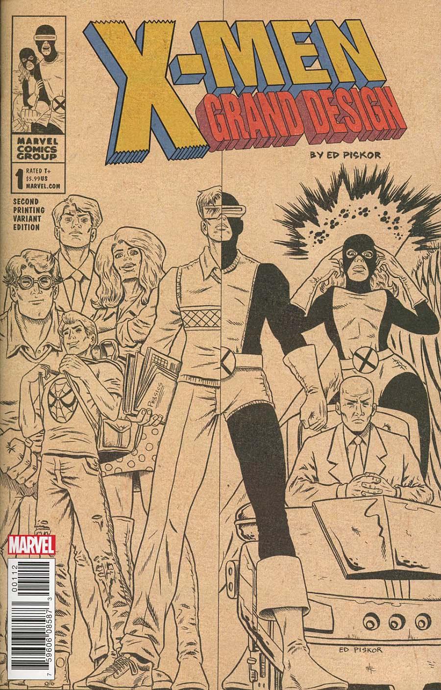 X-Men Grand Design #1 Cover D 2nd Ptg Variant Ed Piskor Cover